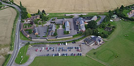 Aerial view of Highnam Business Centre